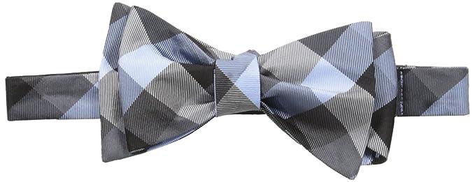 67d48edf7fc9 Tommy Hilfiger Men's Buffalo Tartan Self Tie Bow Tie, Black, One Size
