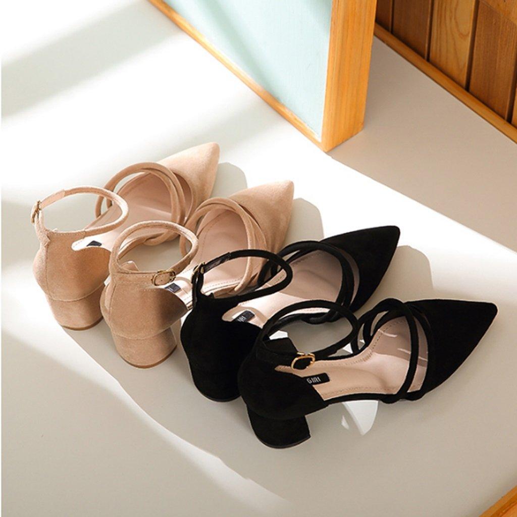 JE schuhe Damen High Heel Schuhe Schuhe Schuhe mit Einer Rauen Ferse a5115d