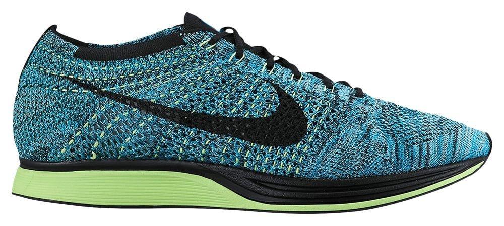 [ナイキ] Nike Flyknit Racer - メンズ ランニング [並行輸入品] B072PTT4MW US13.0 Blue Lagoon/Polarized Blue/Ghost Green/Black