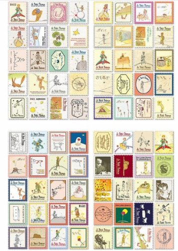 The Little Prince Booklet Stamps for Kids - 80 Stamps
