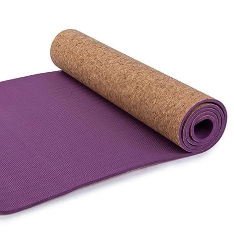 HYTGFR Esterilla de Yoga Deportiva Estera de Yoga de Corcho ...