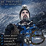 Brightest and Best LED Headlamp 6000 Lumen flashlight- IMPROVED LED, Rechargeable 18650 headlight flashlights Waterproof Hard Hat Light, Bright Head Lights, Running or Camping headlamps