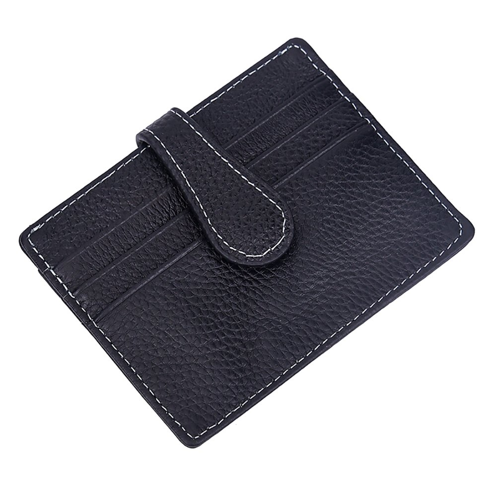 Connoworld Retro Leather Wallet Lightweight Slot Purse Card Holder Key Cash Coin Pouch Storage Bag Case Gift