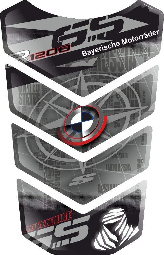PROTECTION DE RESEVOIR TANKSCHUTZ RESINATO EFFETTO 3D compatibile con BM.W R1200GS R 1200 R-1200-GS BM.W-R1200GS GS Adventure ADV GS-Adv v2 PARASERBATOIO ADESIVO TANKPAD