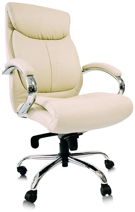 Kijng Chefsessel Kings - Beige Chrome Kunstleder - Bürostuhl  Schreibtischstuhl Drehstuhl Sessel Stuhl