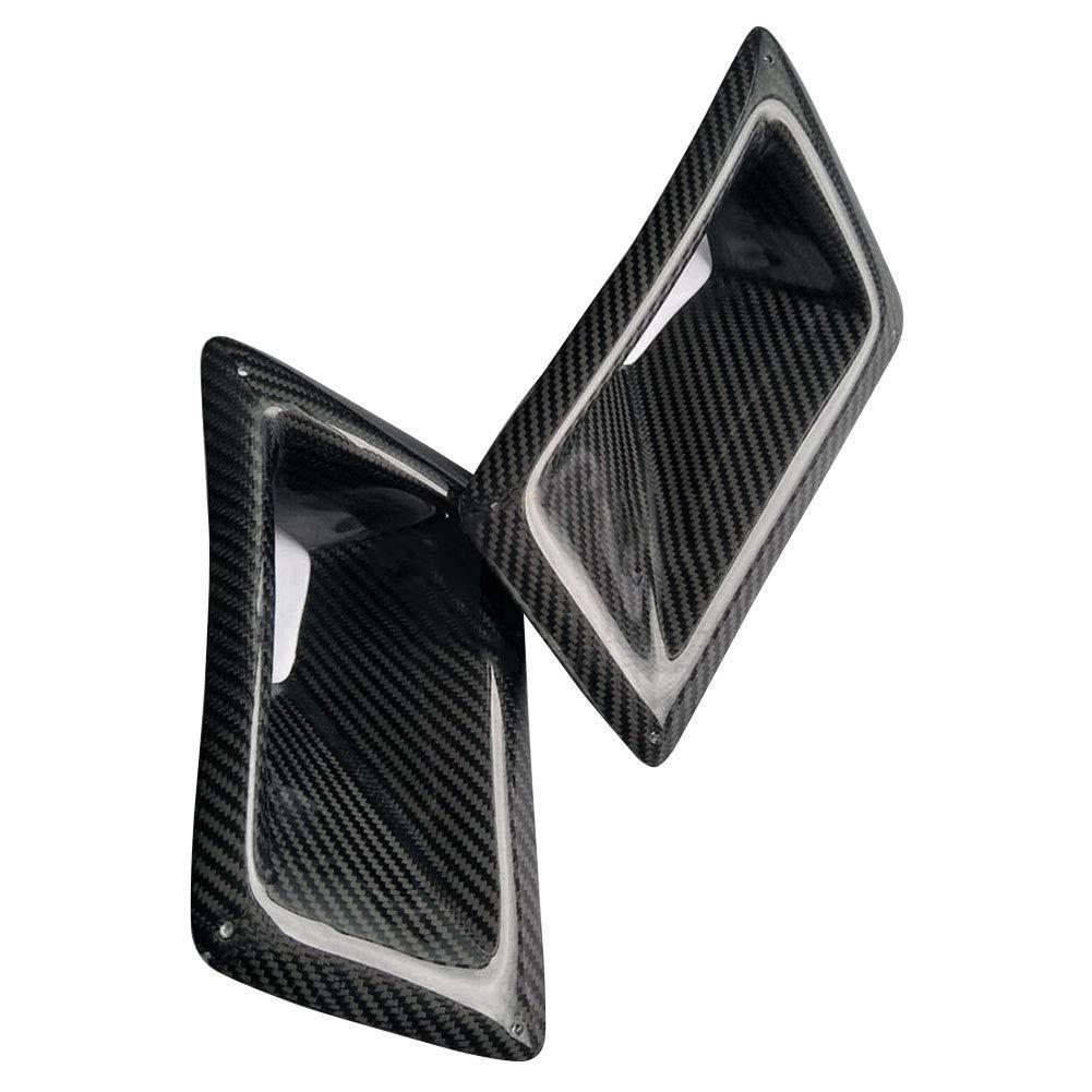 Decoraci/ón del Coche Exterior Ventilaci/ón para Nissan 350Z Ganquer Auto Uso Fibra de Carbono Lado Izq Negro Gris Free Size