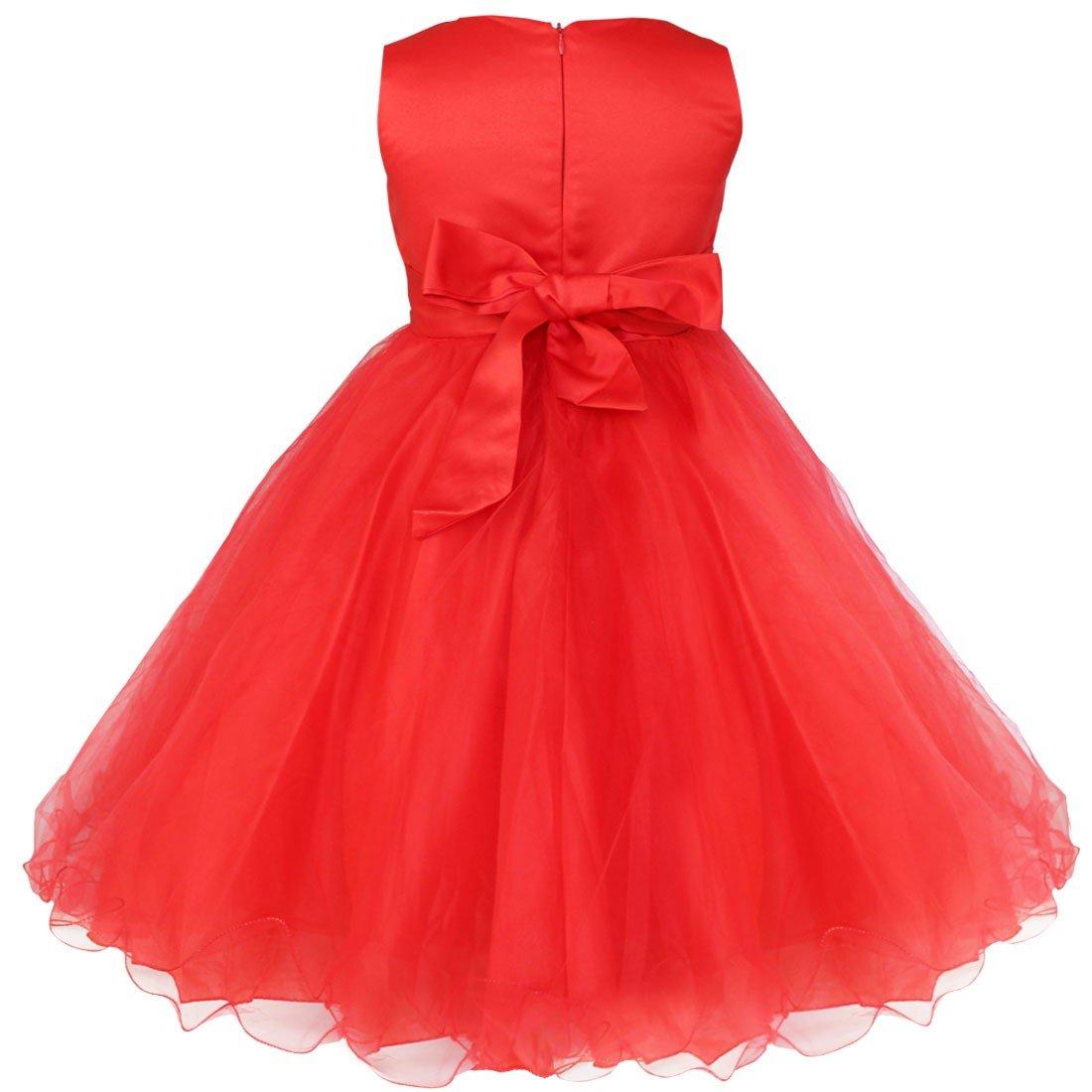 0469b851b Amazon.com  YiZYiF Kids Girls  Sequined Party Bridesmaid Flower Girl ...