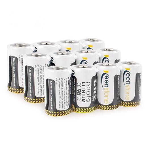 14 opinioni per Keenstone N°12 Cr2 Batterie al Litio 3V 850mAh, Ultra Alta Prestazione, Bassa