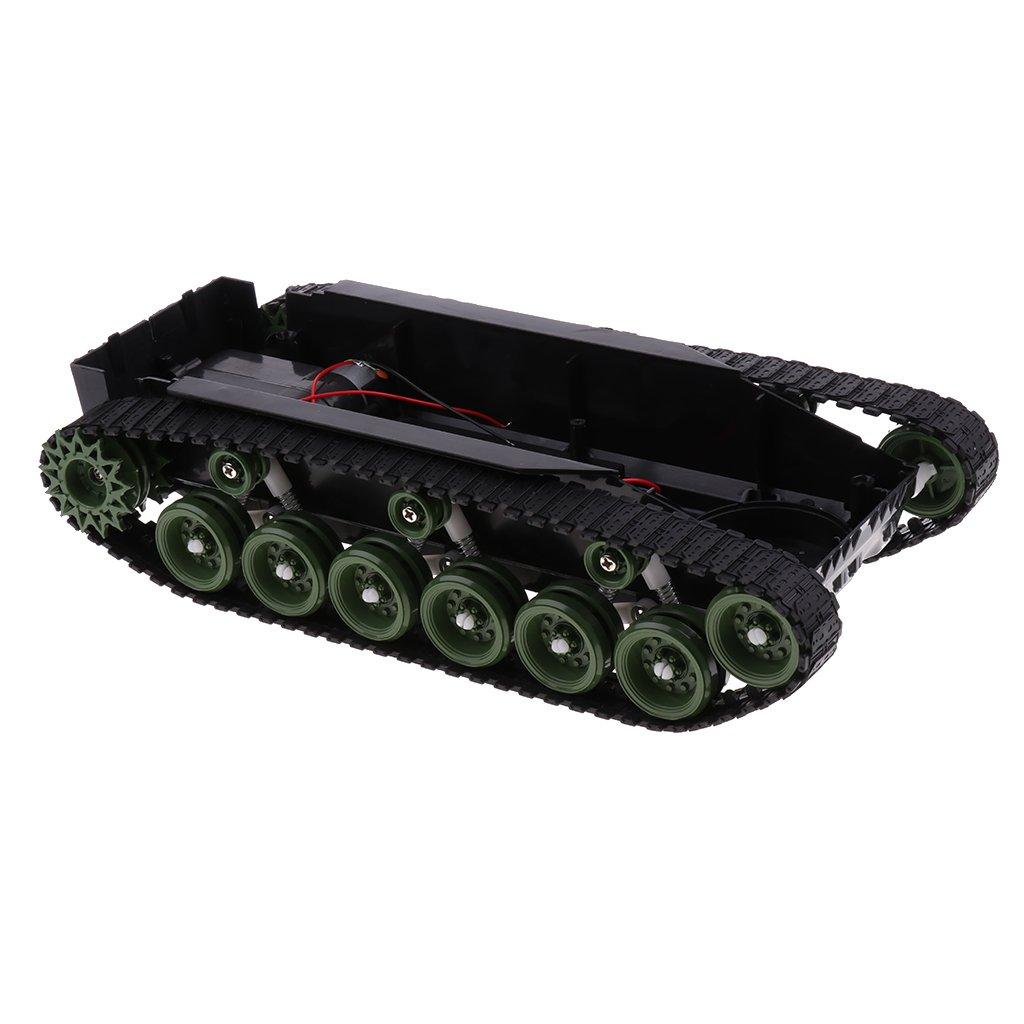 B Blesiya Kit de DIY Châssis de Tank Robot Voiture à Chenilles Intelligente Bricolage Anto-Choc Légère avec Motor Universel 260
