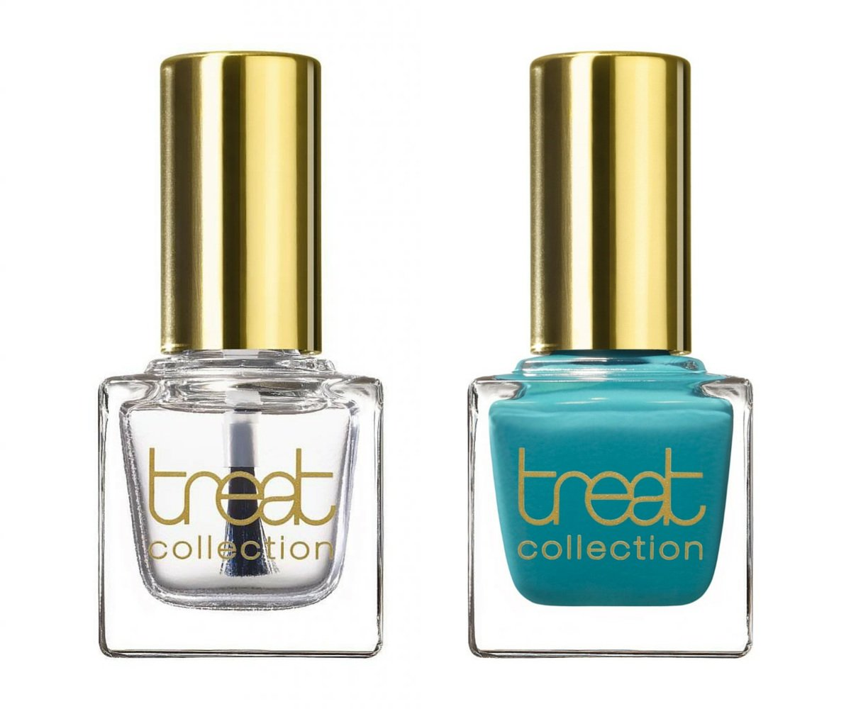 Amazon.com : treat collection Natural Nail Polish Duo, Top and Base Coat, Mint Julep, 2 Count : Beauty