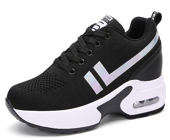 AONEGOLD® Damen Sneaker Wedges mit Keilabsatz Sportschuhe Bequeme Atmungsaktive Mesh Turnschuhe Mode Outdoor Freizeitschuhe