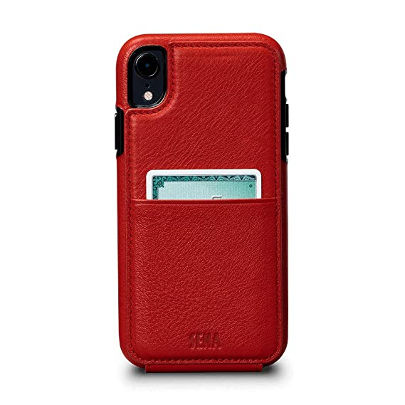 low priced 35cb3 5e33b Amazon.com: Sena Cases, Wallet Skin Leather Case iPhone XR (Red ...
