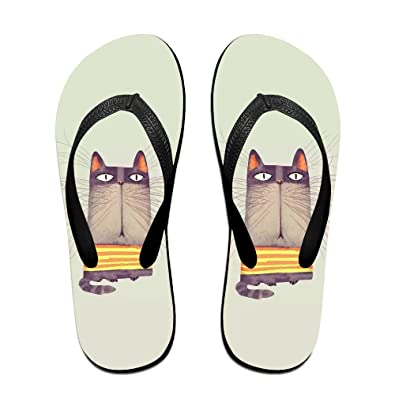 Cat Kitten Funny Unisex Classical Comfortable Flip Flops Beach Slippers