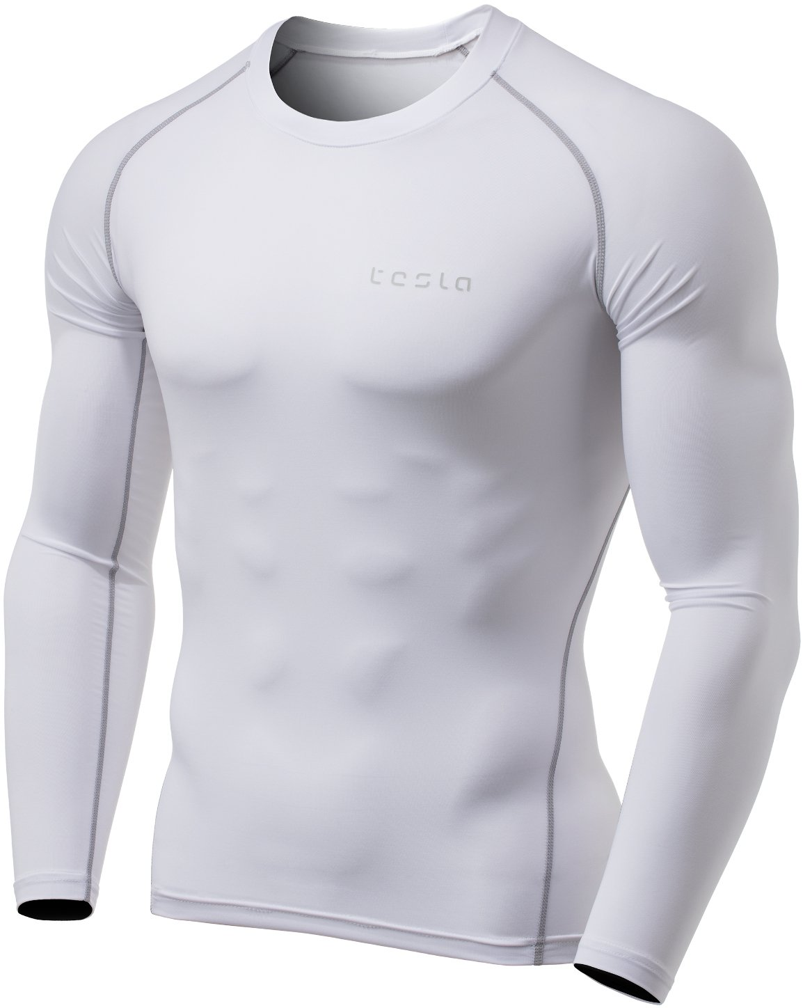 TSLA Men's Long Sleeve T-Shirt Baselayer Cool Dry
