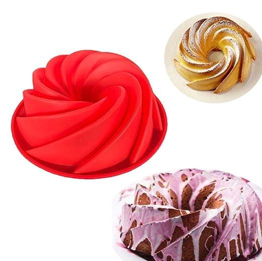 ENCOCO Vortex Molde de silicona para tartas, herramientas de ...