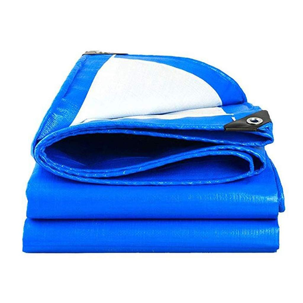 1.5×2 Heavy Duty Tarp Tarpaulin Thick PE Tarpaulin Waterproof bluee Tarp Sheet Premium Quality Cover Tarp for Outdoor Camping (Size   6×7m)
