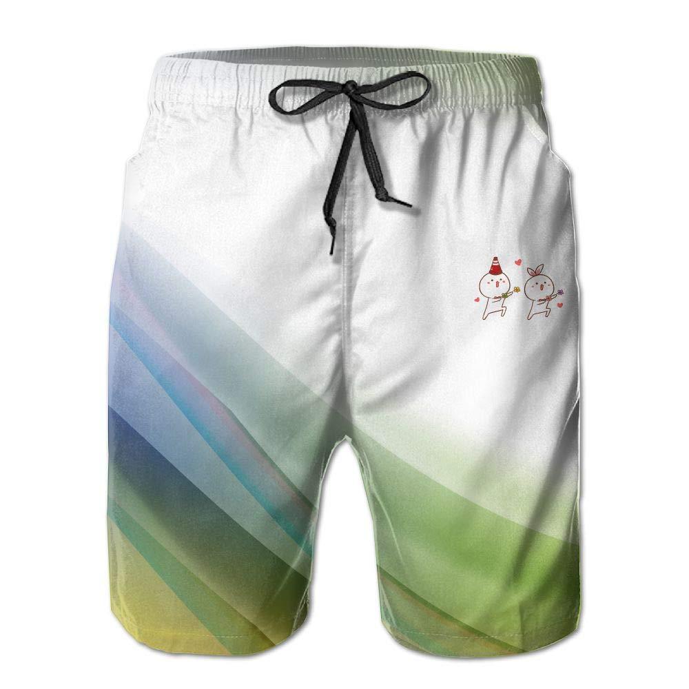 Cute Cartoon Pants AiguanBoys Short Beach Pant
