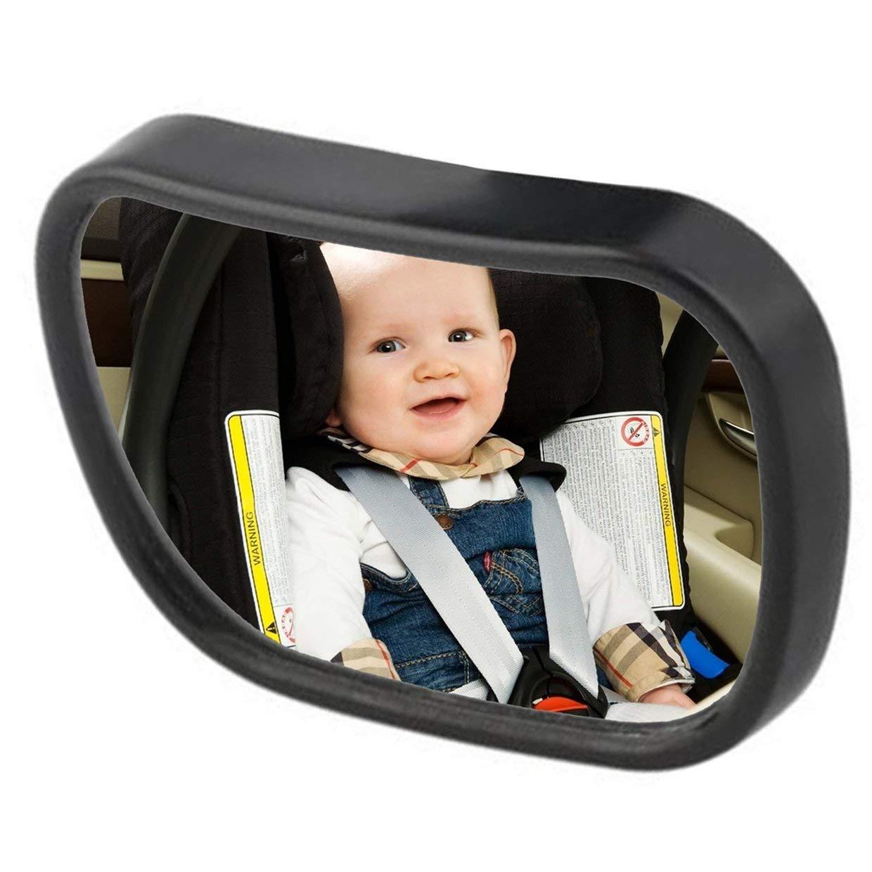 Qewmsg Asiento 2 en 1 universal de pl/ástico ajustable Retrovisor interior del coche de beb/é de seguridad para ni/ños con el clip y el lech/ón