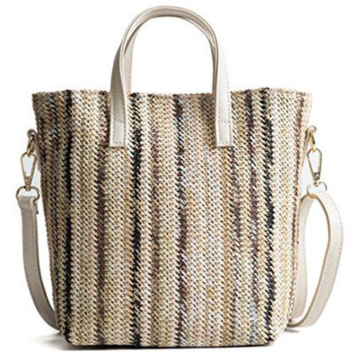Weaved Women NEW Bag Black Crossbody Shoulder Bag For Amuele Straw Hand gdxR1gqB