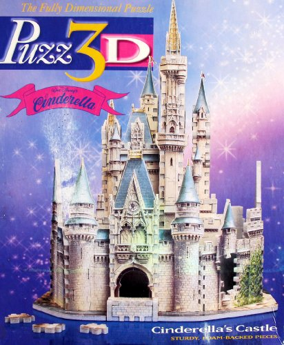 Disney Cinderella CINDERELLA'S CASTLE 3D PUZZLE 530 Pieces Fully Dimensional AVERAGE Difficulty (1995 Milton Bradley/Wrebbit)