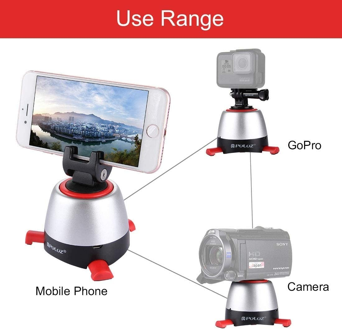 GoPro DSLR Cameras Color : Red Teng AYSMG Electronic 360 Degree Rotation Panoramic Head with Remote Controller for Smartphones Yellow