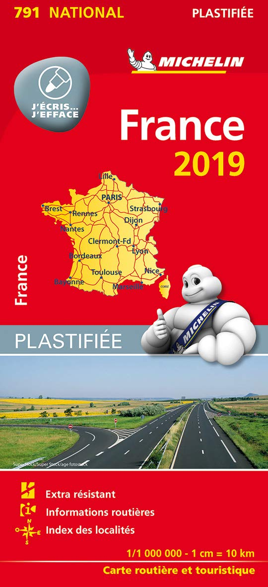 Carte Routiere De France 2019.Amazon Fr Carte France Plastifiee Michelin 2019 Michelin