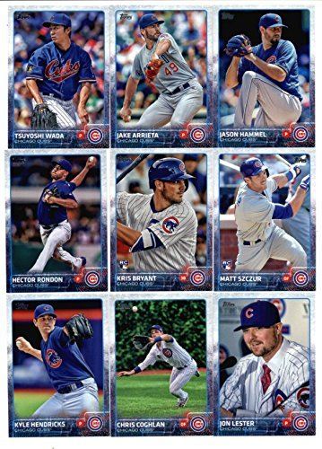 2015 Topps Baseball Cards Chicago Cubs Team Set (Series 1 & 2 - 18 Cards) Including KRIS BRYANT ROOKIE CARD, Arismendy Alcantara, Starlin Castro, Anthony Rizzo, Junior Lake, Brian Schlitter Team Card, Travis Wood, Javier Baez, Jorge Soler