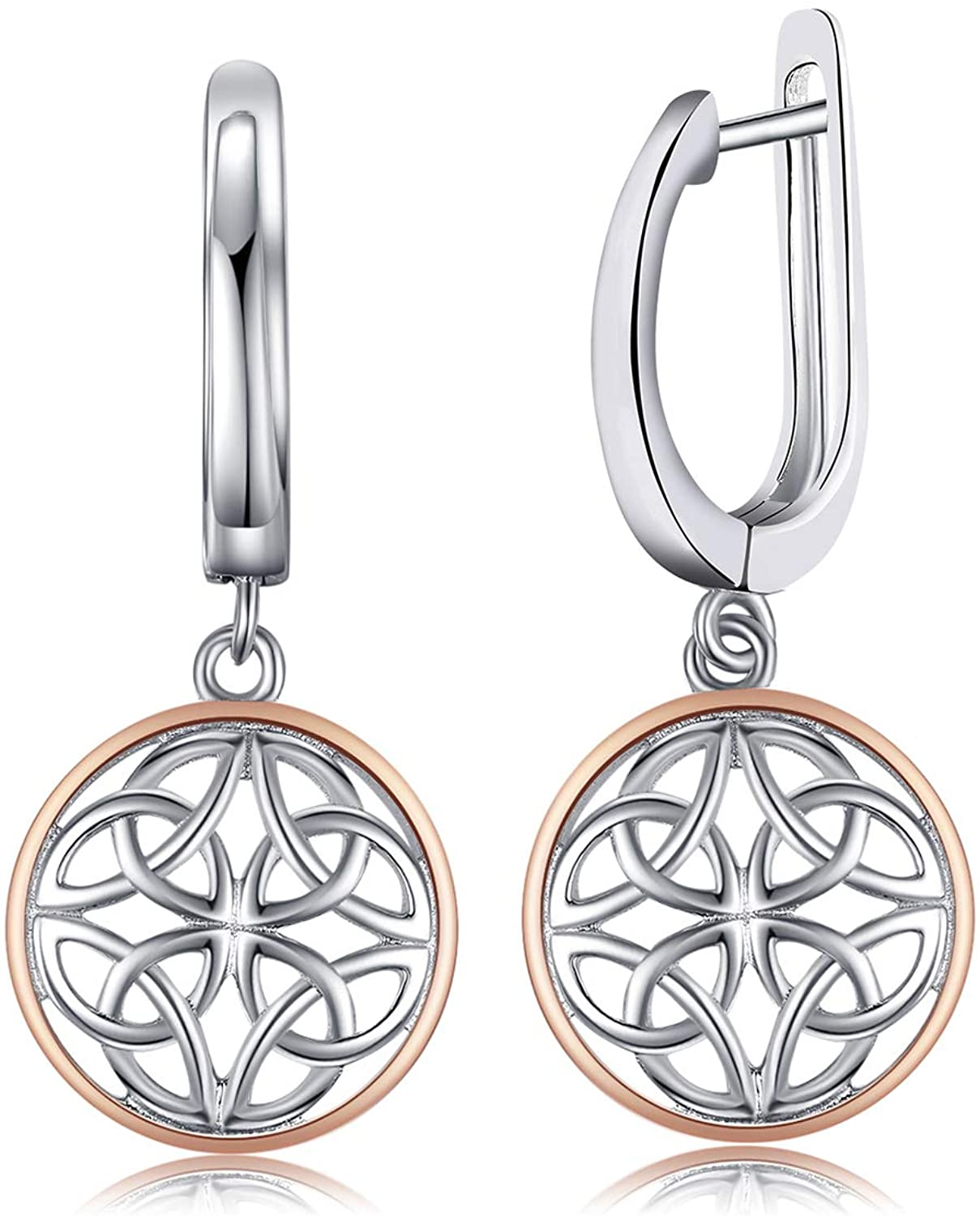 JewelryPalace Hollow Celtic Knots Drop Earrings 925 Sterling Silver