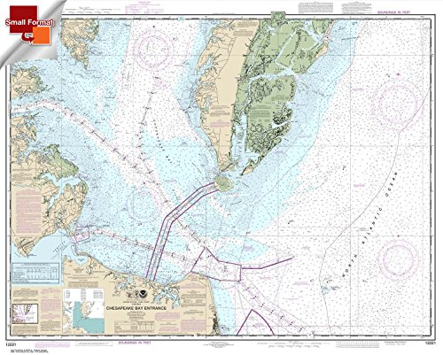 Paradise Cay Publications NOAA Chart 12221: Chesapeake Bay Entrance 21.00 x 26.50 (SMALL FORMAT WATERPROOF)