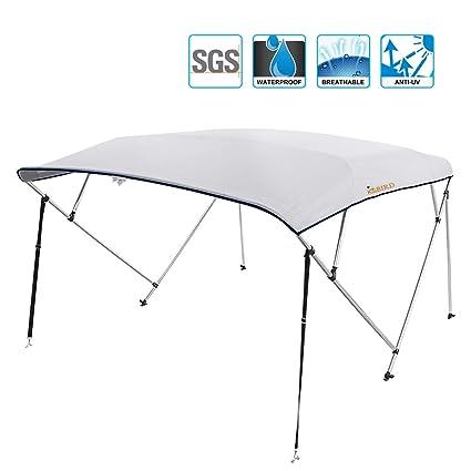 Amazon.com : Kingbird 4 Bow Bimini Boat Top Cover Canopy 1 Inch ...