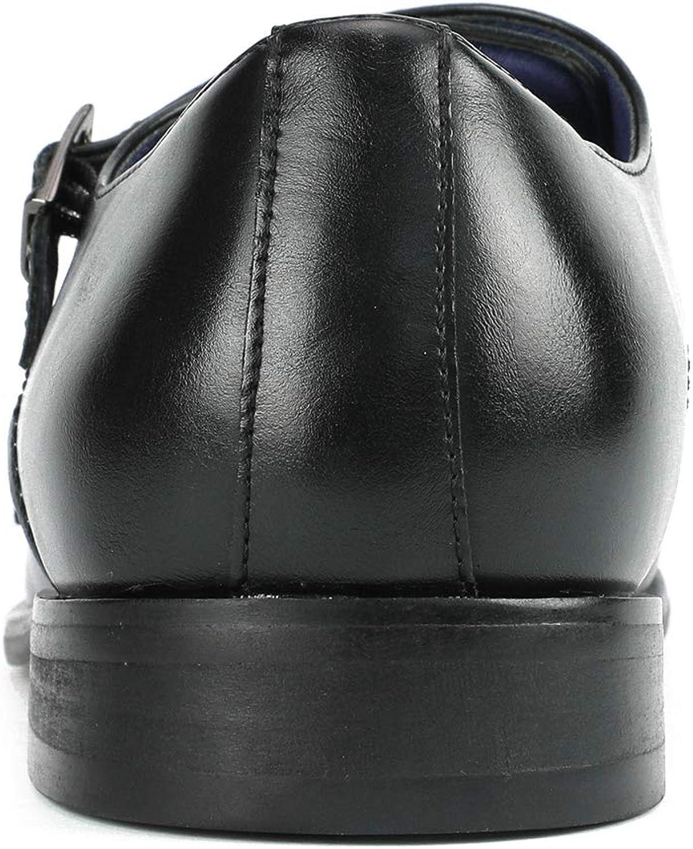 Bruno Marc Mens HUTCHINGSON/_2 Black Classic Monk Strap Dress Oxford Shoes Size 10 M US