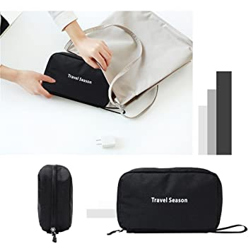 793fc08c068c Amazon.com : Toiletry Bag with Hanging 3 Compartments Portable ...