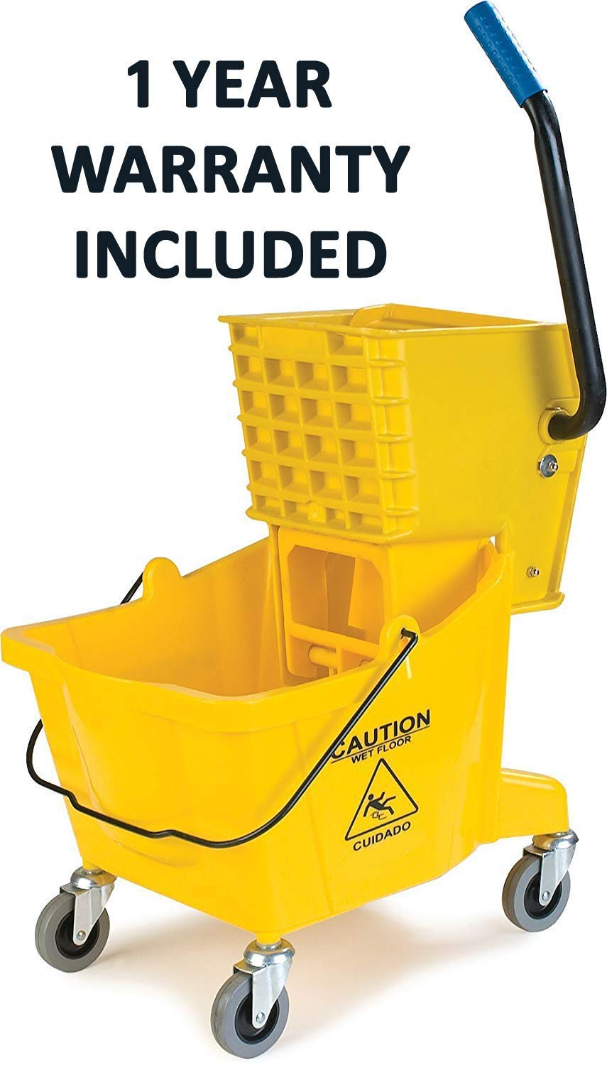 Simpli-Magic 79139 Commercial Mop Bucket with Side Press Wringer, Industrial (Renewed)