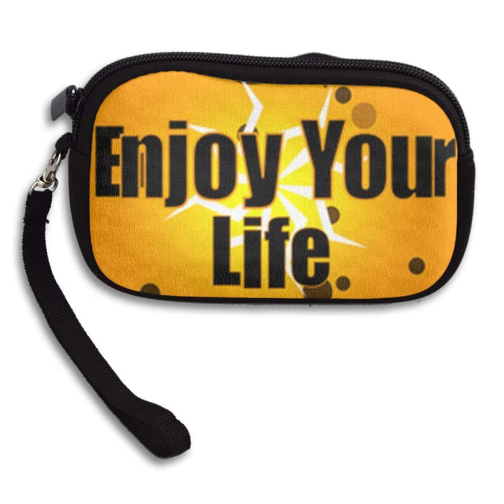 HACVREQ Unisex Personalized Wallet,Enjoy Life Purse Bag Woman Ladies Men Gentlemen by HACVREQ