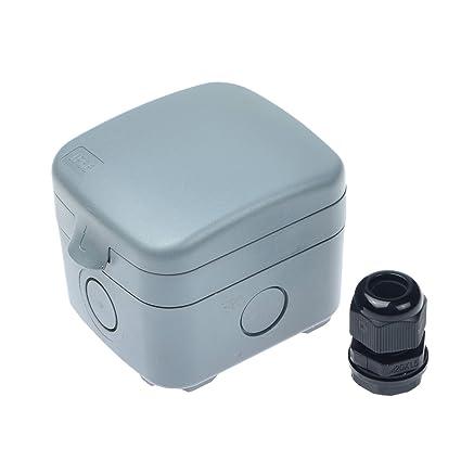 nineleaf 1 pack waterproof junction box ip66 rated weatherproof rh amazon com 12v fused junction box fused electrical junction box