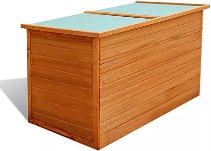 Vidaxl Garten Aufbewahrungsbox Auflagenbox Gartentruhe Kiste Holz 126x72x72 Cm Amazon De Garten