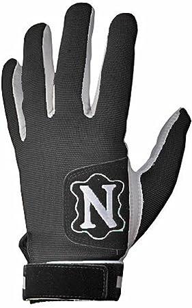 Neumann Padded Football Receivers Lineman Gloves-White//Black Medium