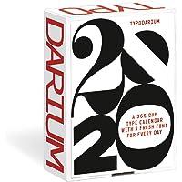 Typodarium 2020: Ein Tages-Abreißkalender mit 366 frischen Fonts von 244 Designern aus 33 Ländern