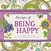 Secrets Of Being Happy 2016 Square 12x12 Wall Calendar