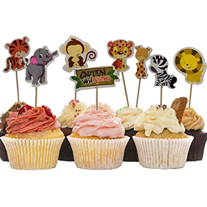 Amazon Com A Little Lemon 48 Pcs Cute Decorative Cupcake Muffin