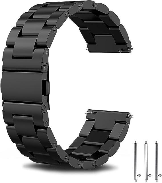 Imagen deSPGUARD Correa Compatible con Correa Huawei Watch GT2 46mm Huawei Watch GT 2e Correa,Pulsera de Repuesto de Metal de Acero Inoxidable para Huawei GT2 46mm/Huawei GT 2e/Active-Negro