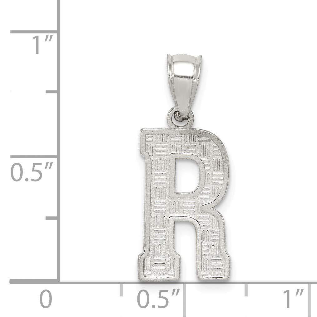 Bonyak Jewelry Sterling Silver Initial R Charm