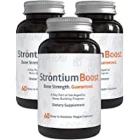 Strontium Boost - Natural Strontium Citrate Supplement - Scientifically Proven to Increase Bone Density in 6 Months - 60…