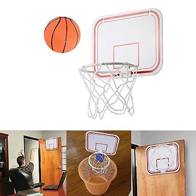 Wenini Kids Mini Toy Basketball Hoop Set, Hamper Hanging Hamper Over The Door Basketball Hoop w/Ball & Thick Shatterproof Backboard Indoor Outdoor Goals Game Set: Garden & Outdoor