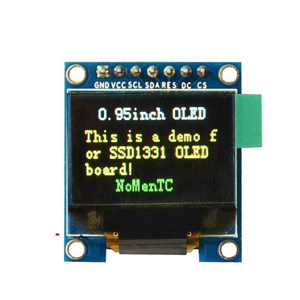 HiLetgo 0.95 SSD1331 96x64 SPI OLED Display 3.3V-5V 7 Pin Full Colorful 65K SPI OLED Display Module for 51 STM32 Arduino