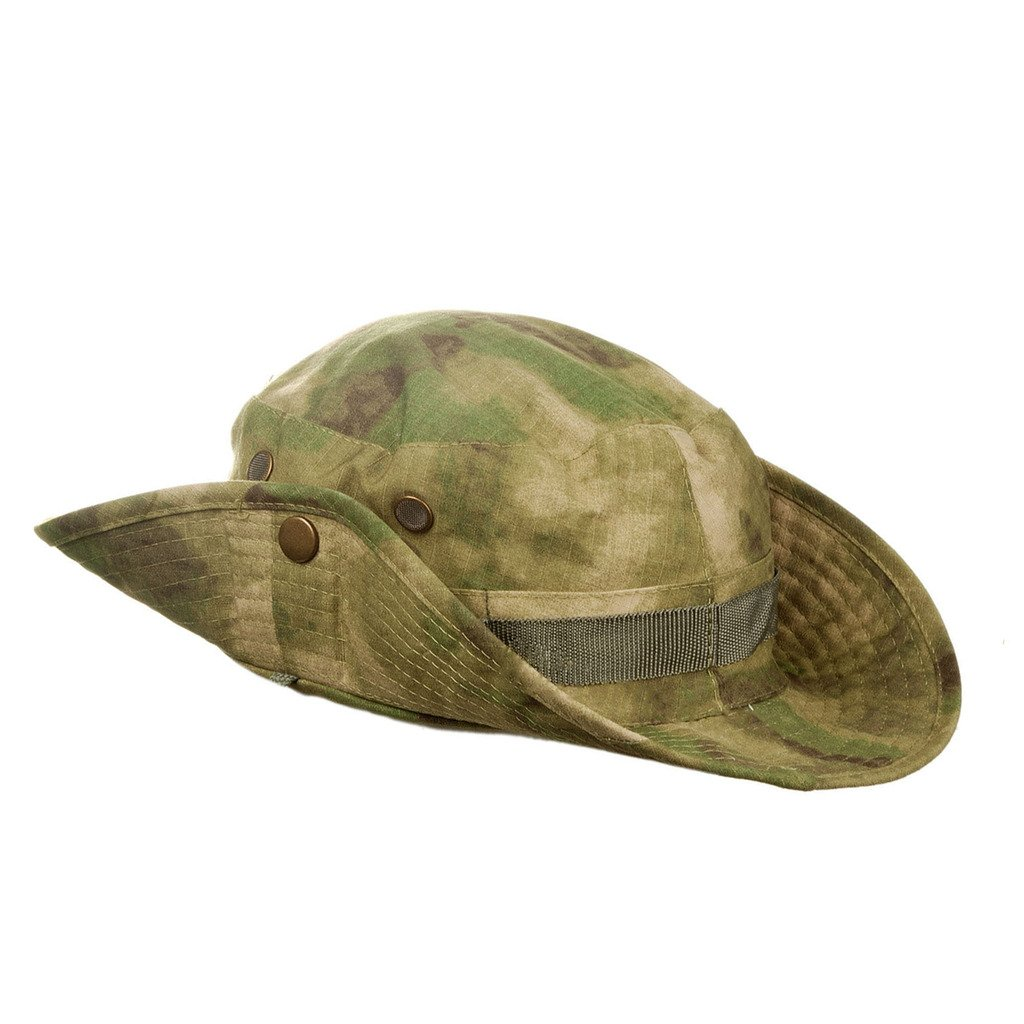 8758a37c MerryBIY Wide Brim Outdoor Sun-shading Travel Fishing Cap Jungle Bush  Camouflage Boonie Military Sun Hat Unisex Man Women Breathable Bucket Hat  Camping ...