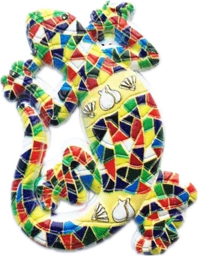 Weekinglo Souvenir Imán de Nevera Mosaico Lagarto España Aleación 3D Artesanía Hecha A Mano Turista Viaje Ciudad Recuerdo Carta de Recibidor de Nevera Etiqueta: Amazon.es: Hogar
