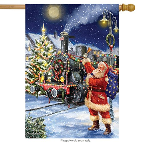 Briarwood Lane Polar Express Christmas House Flag Santa Claus Train 28