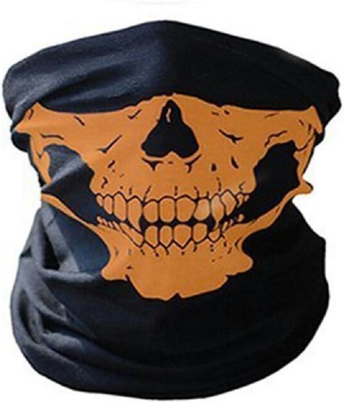 Red CMJ Skeleton Skull Biker Mask Face Mask Biker Balaclava Bandana Neck Tube 8 Colours UK SELLER