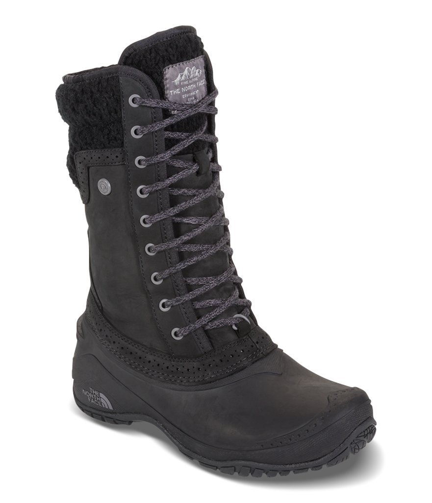 The North Face Women's Shellista II Mid Boot - TNF Black & Plum Kitten Grey - 5.5